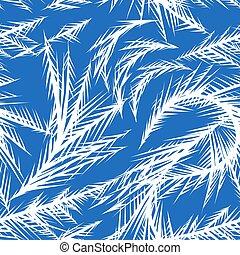 Winter frozen window seamless pattern.