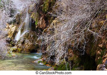 winter., fuente, cuervo, cuenca, río