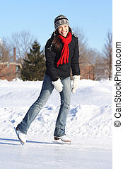 Winter fun - ice skating