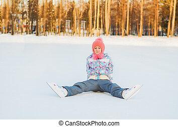 Winter fun. Skating