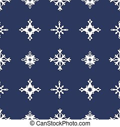 Winter geometric seamless pattern with snowflakes
