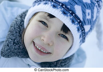 winter girl - happy girl on winter