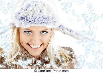 winter girl with snowflakes #2