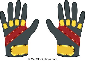 Winter gloves for extreme sports - snowboard, skiing, mountain h