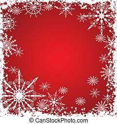 Winter grunge snowflakes background, vector