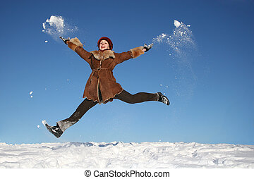 winter happy girl 3