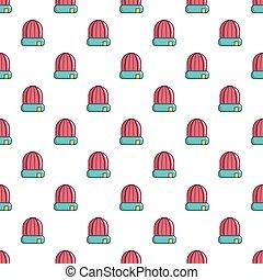 Winter hat cap pattern seamless