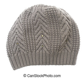 Winter hat isolated on white background