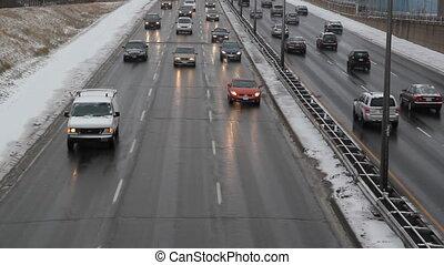 Winter highway.
