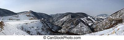 Winter Hills Panorama