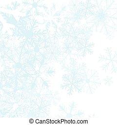 winter, hintergrund, mit, schnee bröckelt, vektor