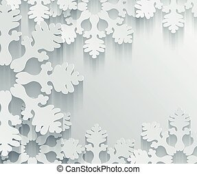Holiday 3D Snowflakes Background