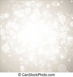 Winter holiday abstract background with snowflakes and...