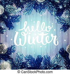 Merveilleux Winter Holiday Background