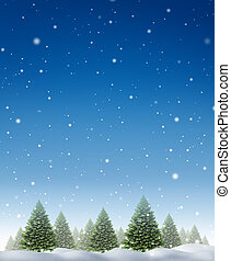 Winter Holiday Background - Winter holiday background with a...