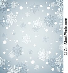 Winter Holiday Background with snow. Blue Christmas snowflakes background for banner or greeting card