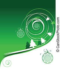 Winter holiday, christmas card