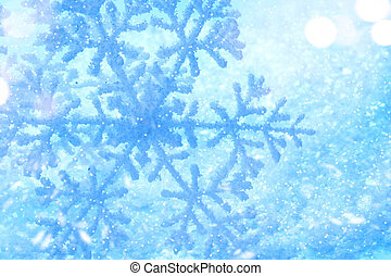 Winter holiday snow background. Snowflake