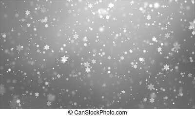 Winter Holiday Snow Loop Background. Christmas Abstract ...