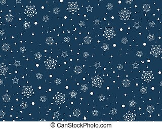 Winter Holiday Snowflake Flat Colors Background