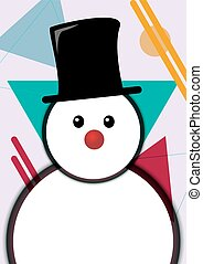 Winter Holiday Snowman