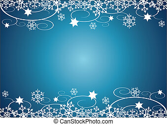 Winter Holidays BG - Decorative Christmas illustration with...