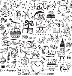 Winter holidays seamless background