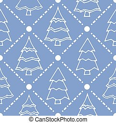 Winter holidays seamless pattern