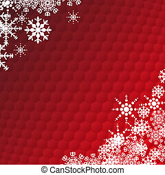 Winter holidays snowflake card