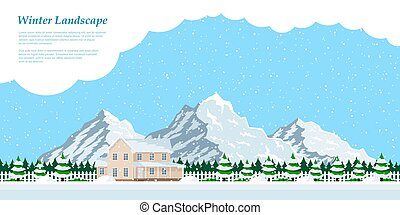 winter house landscape