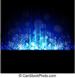Winter iced holiday abstract background