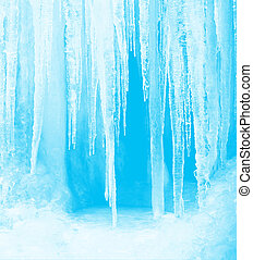 Winter Icicles - Feel the coldness of winter with a frozen...