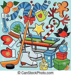 Winter illustration for children.