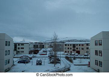 Winter in Akureyri Iceland