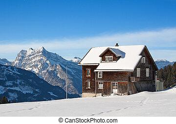Winter in alps - Winter in swiss alps (Amden, St. Gallen,...