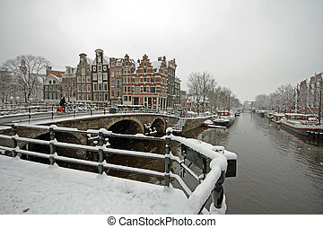 Winter in Amsterdam the Netherlands