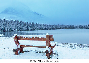 Winter in Glacier Park - Early winter with first snow ...