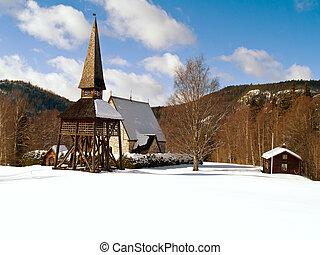 winter in Liden, northern Sweden