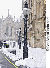 Winter in London.
