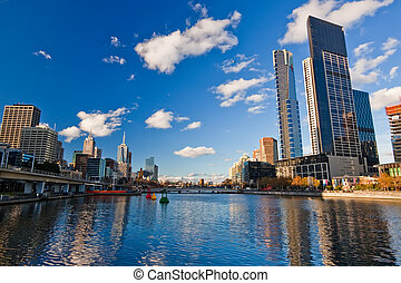 Melbourne, Skyscrapers on Yarra River - Winter in Melbourne...