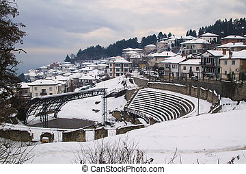 Winter in Ohrid - Picture of Town of Ohrid and the lake in ...