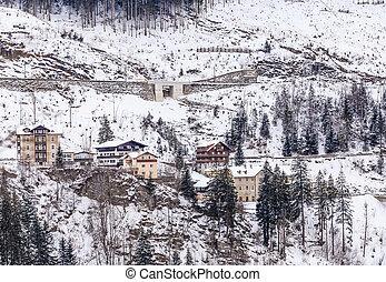 Winter in ski resort Bad Gasteinl, Austria