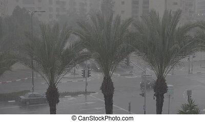 Winter in Tel-Aviv shot clip