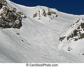 Winter in the alps - Winter in the swiss alps (Scuol,...