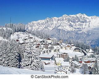 Winter in the alps - Winter in the swiss alps (Flumserberg, ...