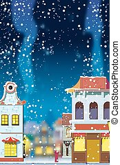 Winter in the little European town