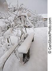 Winter in the ukrainian village