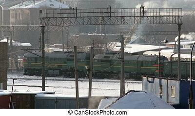 Winter industrial city