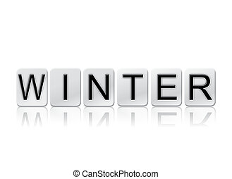 Winter Isolated Tiled Letters Concept and Theme