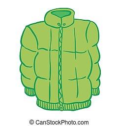 winter jacket cartoon